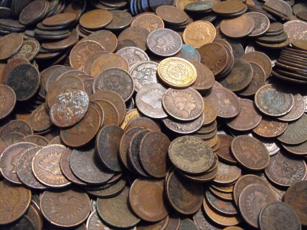 5: Lot of 500 INDIAN HEAD CENTS
