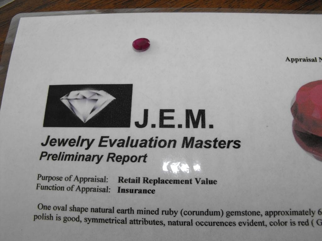 5Q: 1.5 ct. Earth Mined Ruby -$ 900 GG GIA