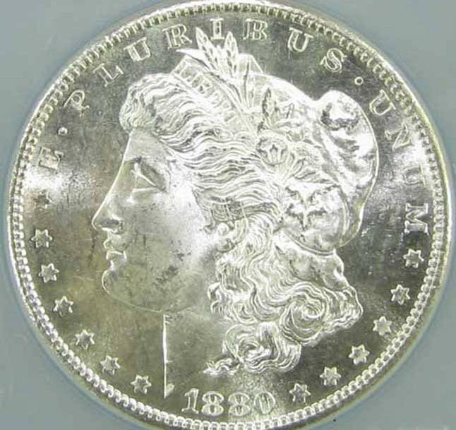 2: 1880 S BU Morgan Silver Dollar