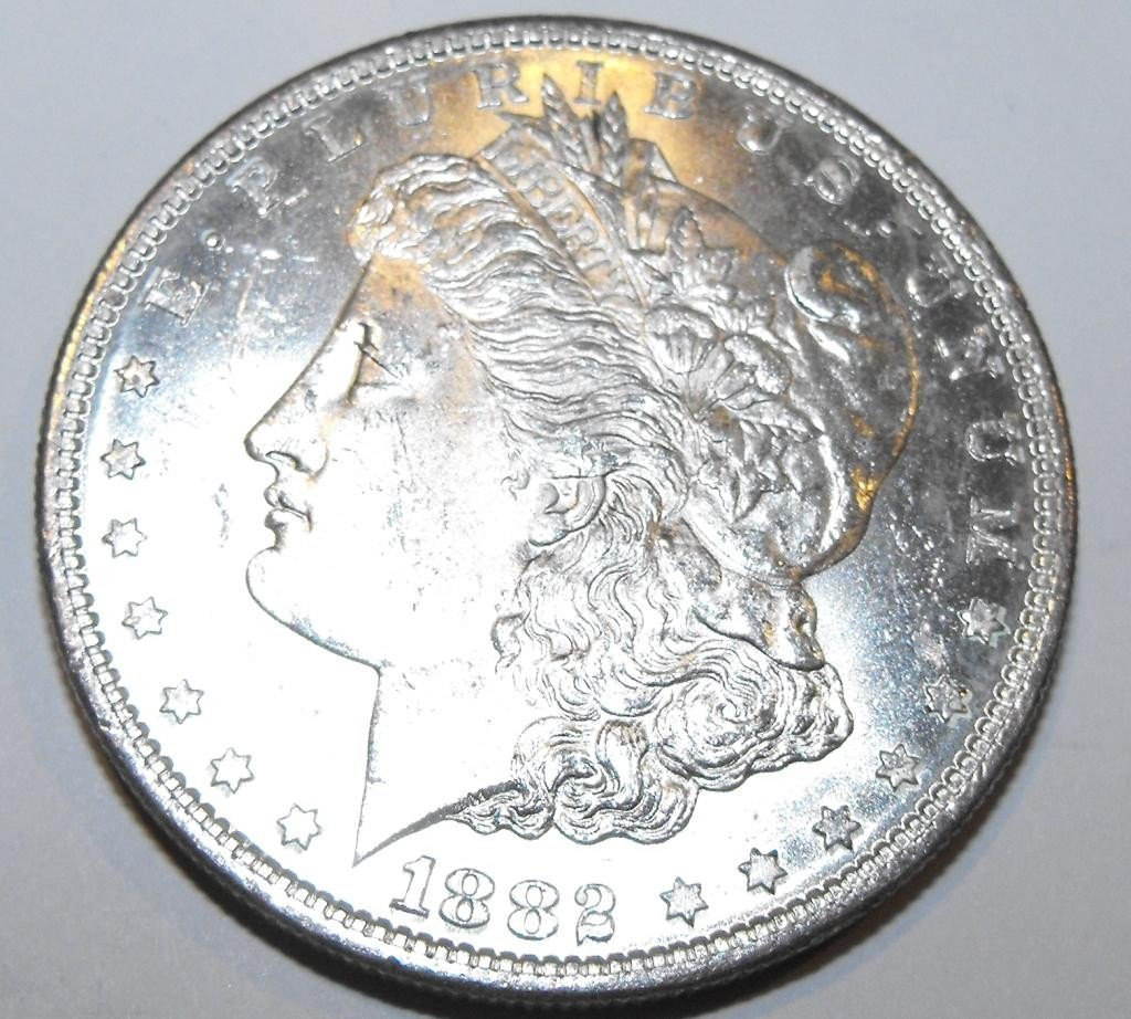 3: 1882 O BU Morgan Silver Dollar