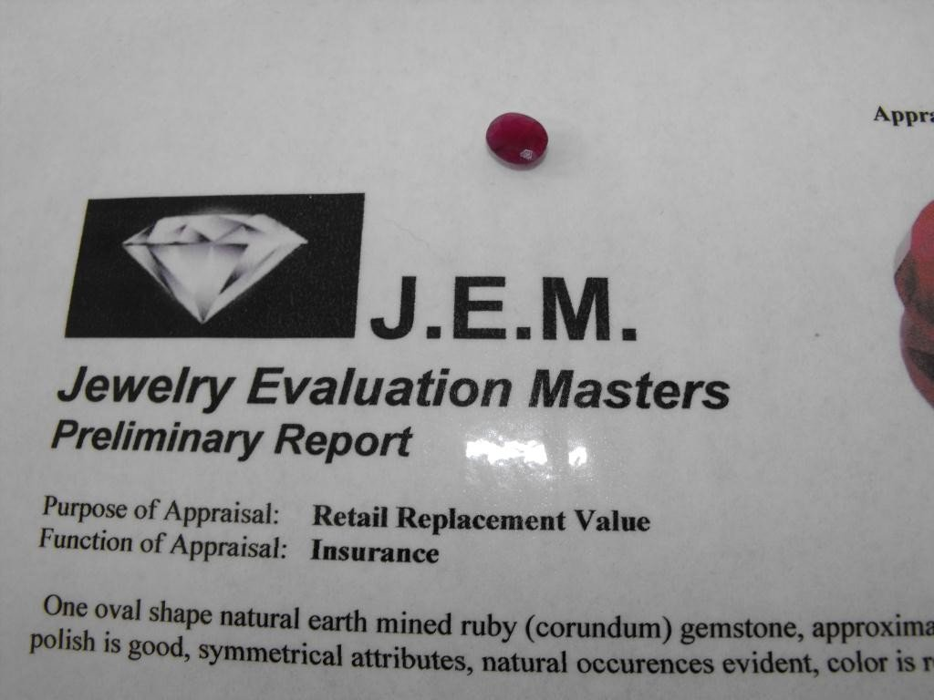 3Q: 2 ct. Earth Mined Ruby- $ 1000 GG GIA