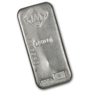 3A: 1 kilo (32.15 oz) Johnson Matthey Silver Bar .999 F