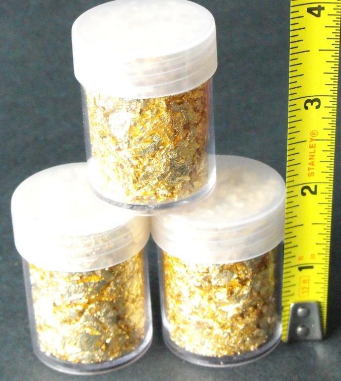 1M: (1) Gold Leaf Flakes in Bottle- Non Bullion