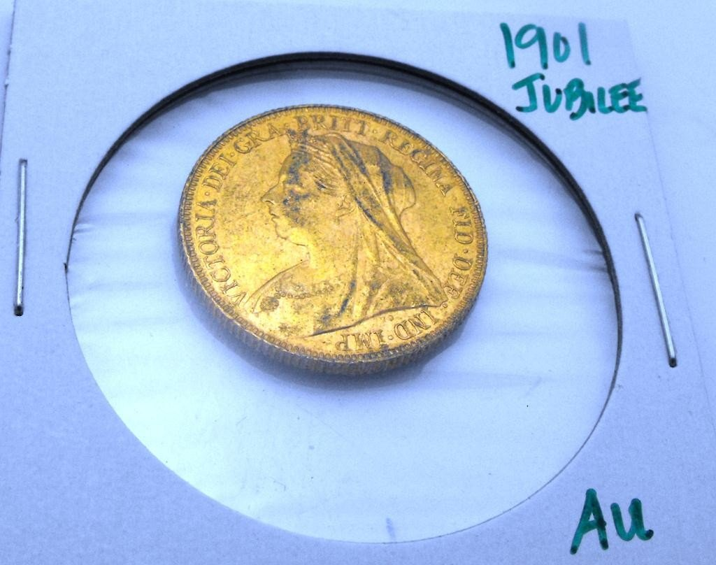 5: 1901 Jubilee British Sovereign Gold