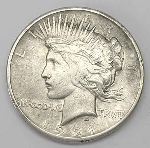 4S: 1921 Peace Dollar - First Peace Dollar