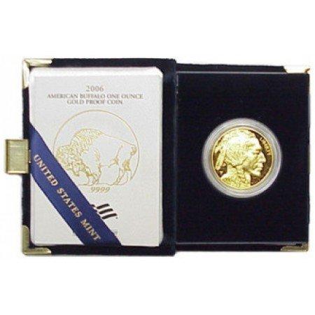 1X: 2006 GEM PROOF Gold Buffalo In case 1st Year