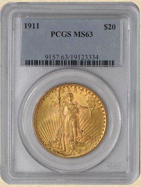 2A: 1911 p PCGS MS 63 Saint Gaudens