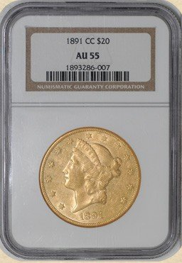 26A: 1891 Carson City AU 55 KEY DATE-MINT Gold