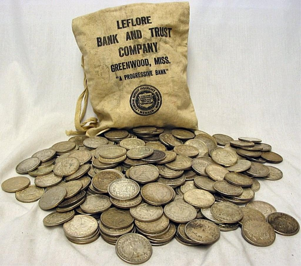 325C: Bag of 500 Morgans- 90% Silver - Possible Keys