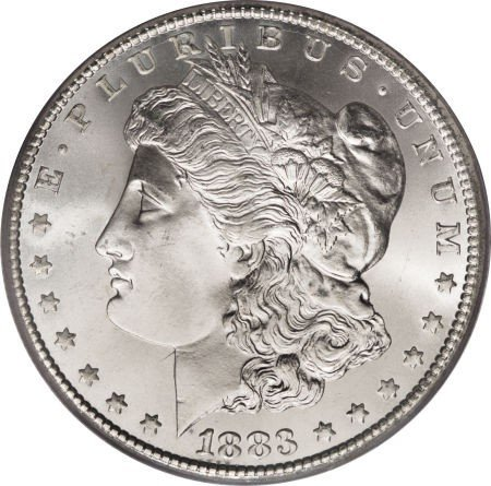 5: 1883- O Morgan Silver Dollar