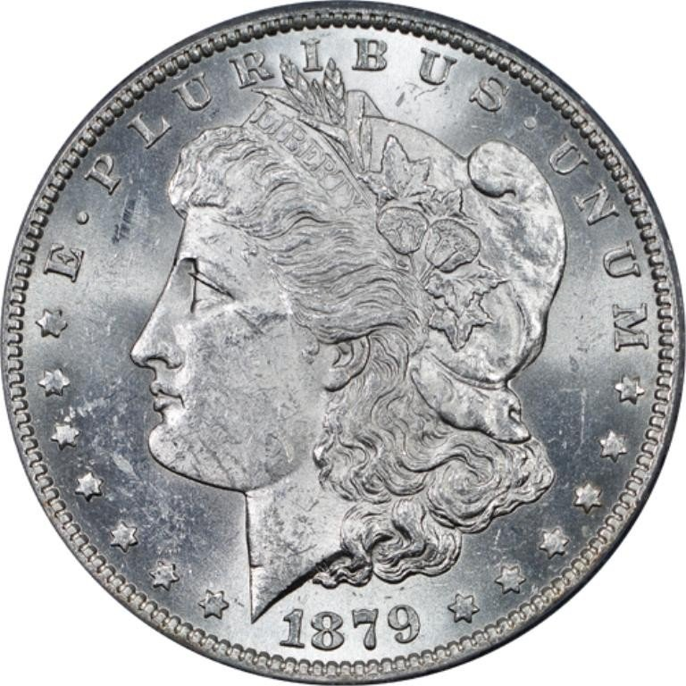 2L: 1879p ms63-5 Morgan Silver Dollar