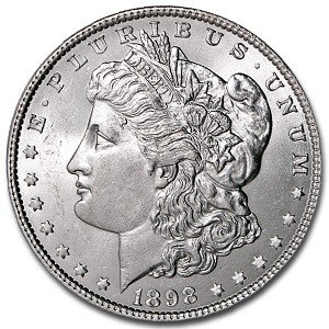 5L: 1898o pl Morgan Silver Dollar