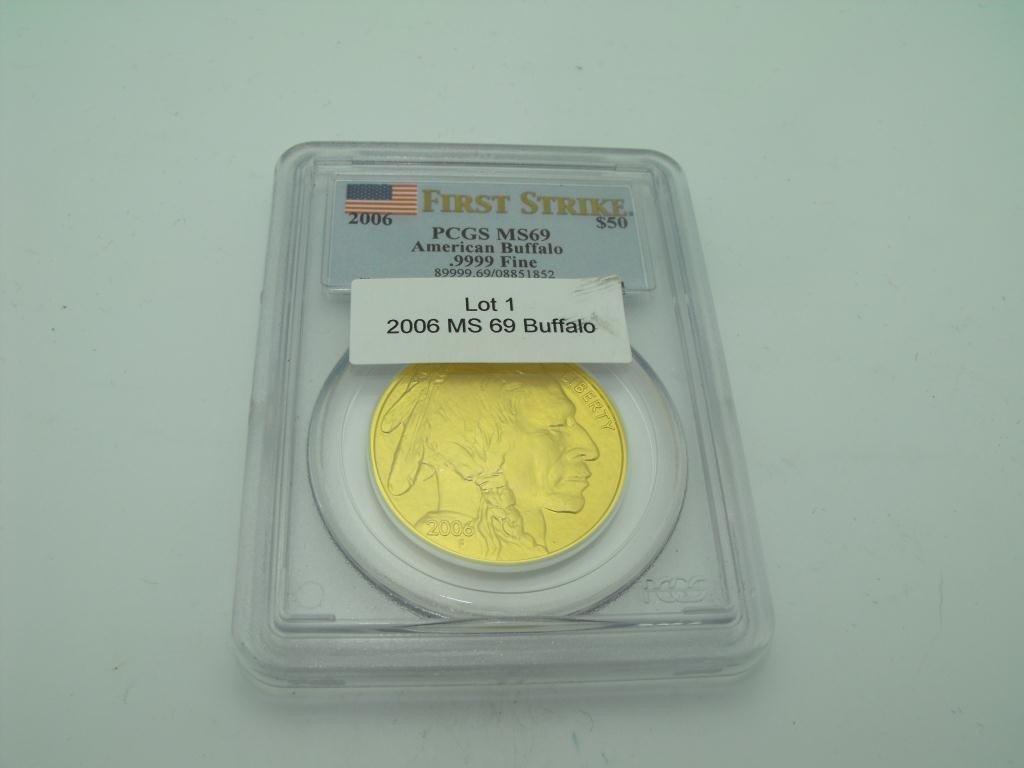 1: 2006 First Strike MS 69 Gold Buffalo