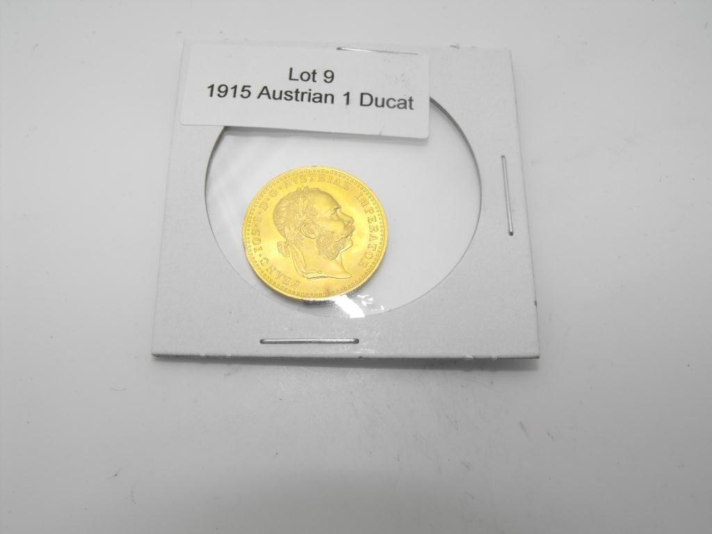 9: 1915 Austrian Ducat BU Grade