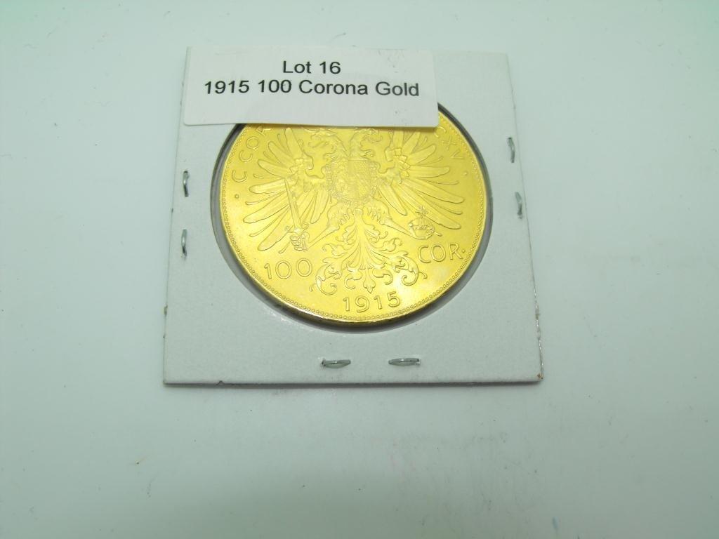 16: 1.09 oz. Gold 100 Corona 1915 Austrian Coin