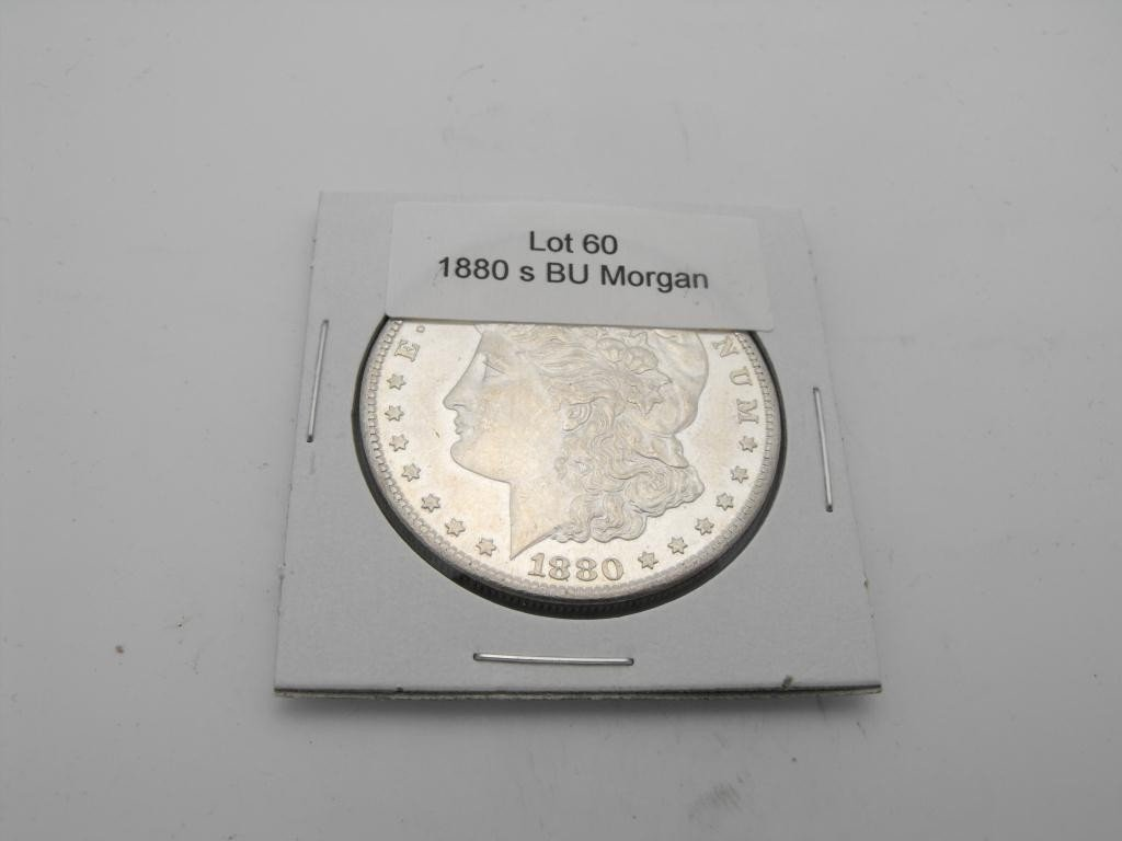 60: 1880s BU Morgan Silver Dollar