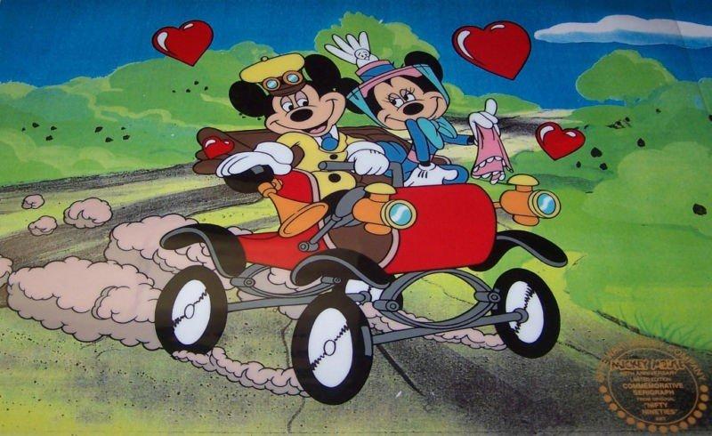 "2X: Disney Animation Art Cel "" Nifty Nineties"""