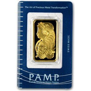 79C: 1 oz. Pamp Suisse Gold Ingot on Card