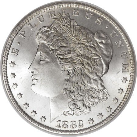 2: 1882 O BU Morgan Silver Dollar