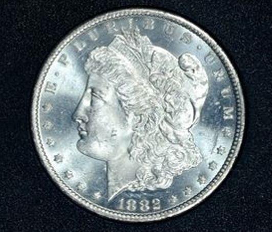 1B: 1882 Carson City Prooflike MS 65 Morgan Dollar