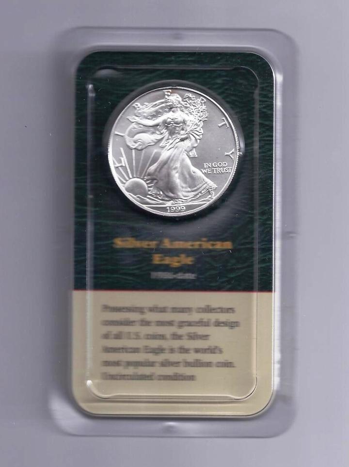 4: 1999 Silver Eagle on Card