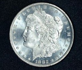 1A: 1882 Carson City Prooflike MS 65 Morgan Dollar