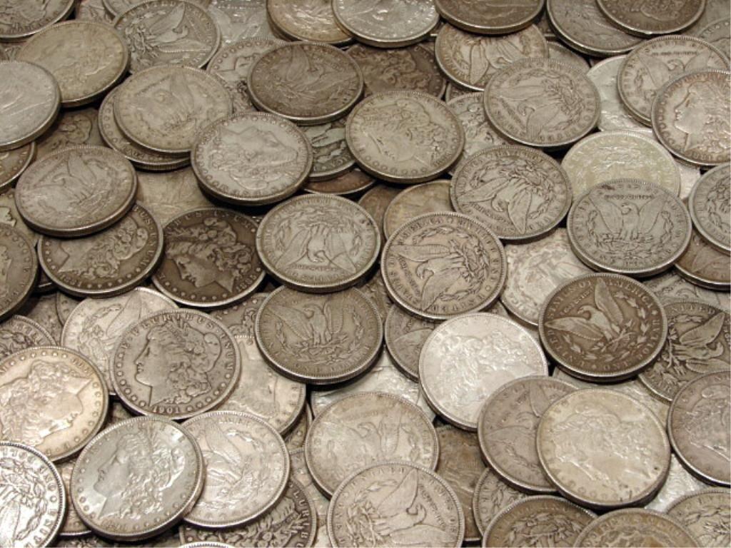 16C: 100 Morgan Silver Dollars