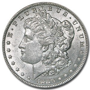1: 1880 S BU Morgan Silver Dollar