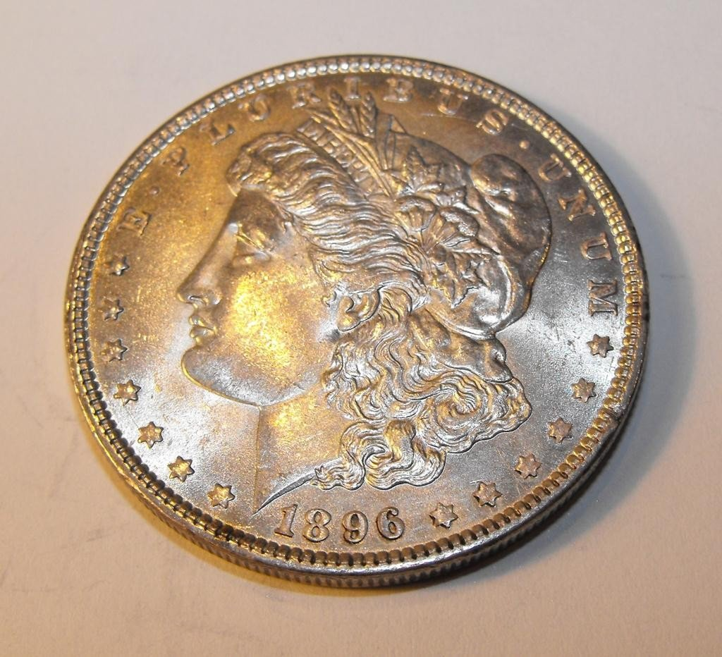 4: 1896 P BU Morgan Silver Dollar