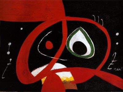 "1P: Joan Miro "" Kopf "" Professional Print 31 x 24"