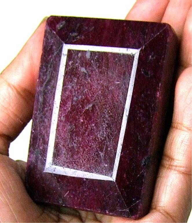 7W: 525 ct. Rectangle Ruby Gemstone - Africa
