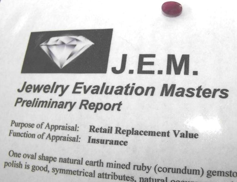 1Q: 1.5 ct. Earth Mined Ruby- $ 900 GG GIA