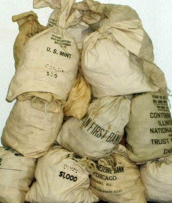 124S: Bank Bag  Full of (200) Unsearched Morgans -