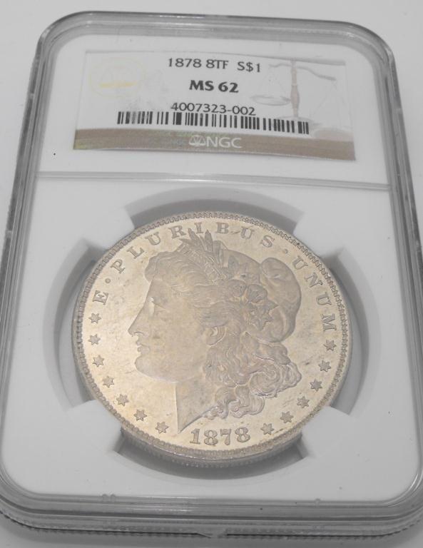 3A: 1878 8 TF MS 62 Morgan NGC