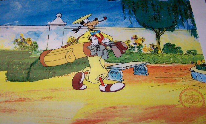 "1: Walt Disney "" Goofy Golf "" Sericel"