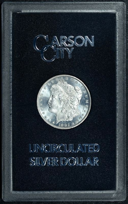 2Z: 1882 Carson City PROOF LIKE GSA MS 64 PLUS
