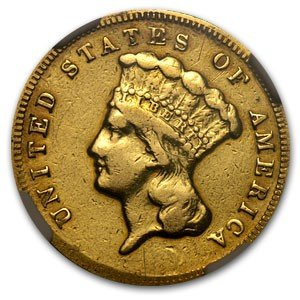 1B: RARE 1874 $ 3 Gold US Gold COIN!!