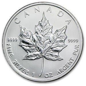 2D: A 1 oz. Silver Maple Leaf Bullion
