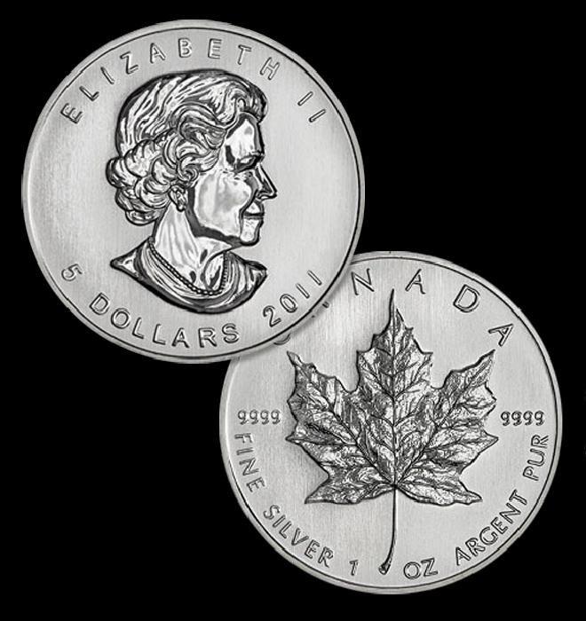 3D: A 1 oz. Silver Maple Leaf Bullion