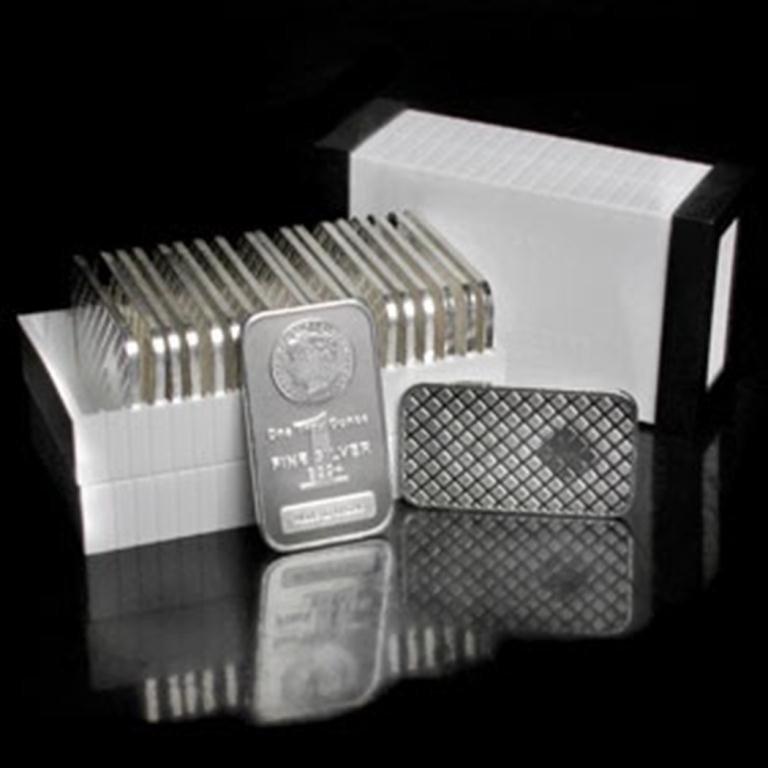 124: Lot of 20 Morgan Design Silver Bars 1oz each