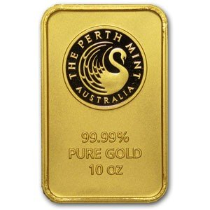 1B: 10 Oz. Perth Mint Pure Gold Ingot! 10 oz...!