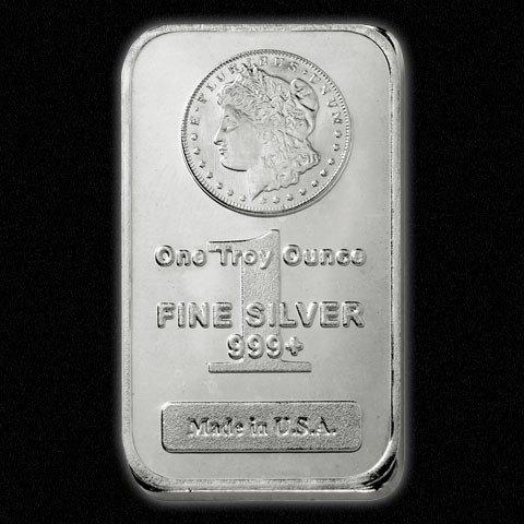 206S: (100) Morgan Design Silver Bars - 999 Pure