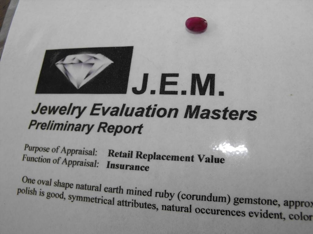 2Q: 1.5 ct. Earth Mined Ruby- $ 900 GG GIA