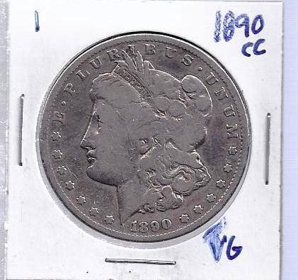 1: 1890 Carson City VG Morgan Silver Dollar