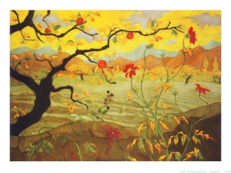 1P: Apple Tree with Red Fruit  by Paul Ranson Art print