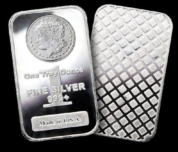 4N: 1 oz Silver bars- Morgan Design -(20)