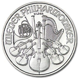 5C: (10) Austrian Philharmonic Silver Bullion 1 oz