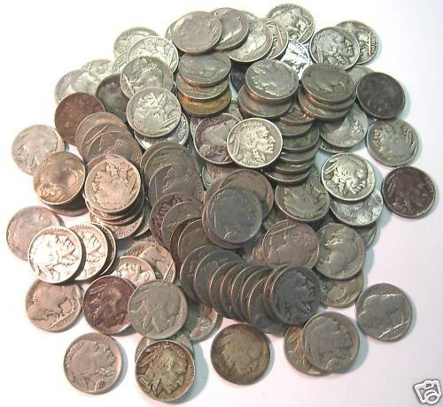 1O: Lot of 100 Buffalo Nickels- No Date