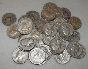 4O: Lot Of 50 Washington Quarters