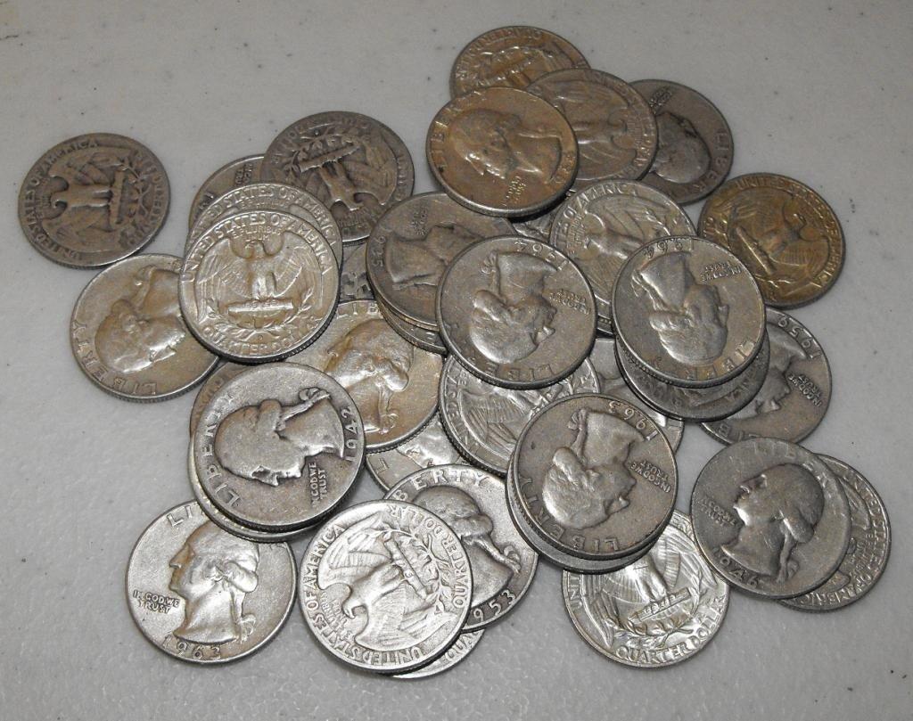 4O: Lot Of 50 Washington Quarters